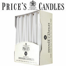 Prices Tapered Candles Unwrapped Dinner Price's Candle, Pack of 50 White 8h burn