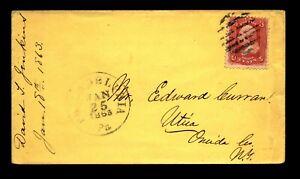 1863 Philadelphia Crisp Cancel Cover / Light Creasing - L29251