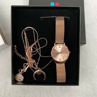 Even&Odd Women's Watch Quartz Rose Gold Stainless Steel Bracelet Gift Set Ladies