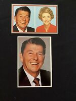 TWO (2) Vintage Post cards President Ronald Reagan  & First Lady Nancy Reagan
