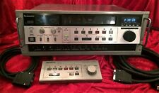 PANASONIC AG-6300 VHS VIDEO CASSETTE RECORDER & AG-A600 Wired Remote