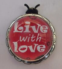 zzn Live with Love inspirational Ladybug Message Figurine miniature ganz