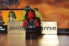 LEGO Minifigure - Red She-Hulk -  Brand New - Genuine LEGO from Marvel 76078