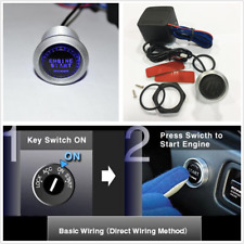 Car Auto Blue illumination Engine Ignition Starter Push Botton Switch+Relay Box