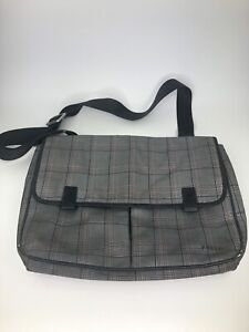 Fossil Messenger Bag Plaid School Bag Book Bag Dirty Needs Cleaning a1W