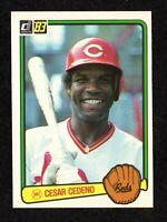 1983 Donruss #43 Cesar Cedeno Cincinnati Reds Astros Baseball Card EX/MT+
