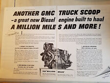 1951 General Motors GMC Diesel Engine Truck Original Ad