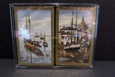 Lionel Barrymore Playing Cards Boxed Set 2 Decks Boats Fishing Landscape Scene