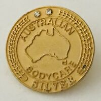 Australian Bodycare Silver Award Advertising Pin Badge Rare Vintage (H6)
