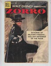 "Four Color 882 VG- (3.5) 2/58 ""Zorro"" 1st Disney issue! Alex Toth art! Photo cvr"