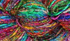 Recycled Sari Silk Yarn - Rainbow