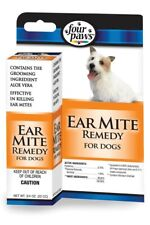 Four Paws Aloe Ear Mite Pyrethrin Treatment for Dogs 0.75 ounce