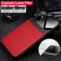 Ultra Slim Hybrid Leather Glass Case Cover for Samsung Galaxy S20 Plus/S20 Ultra