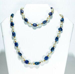 Stauer Lady Spencer Sapphire Necklace and Bracelet set