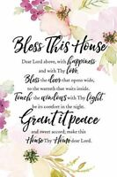 "NEW Dexsa Bless This House 6"" x 9"" Wood Plaque with Easel DX5005"