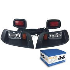 EZGO TXT Golf Cart Halogen Headlights & LED Tail Light Kit 96-2013 Gas/Electric