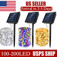 100-500 LED Solar Power String Fairy Lights Garden Outdoor Party Christmas Lamp