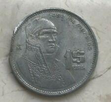 1986 Mexico 1 One Peso - Ragged Straight Clip - Clipped Planchet Error