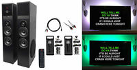Rockville Bluetooth Home Theater/Karaoke Machine System W/LED'S+Subwoofers+Mics