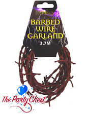3.7M FAKE RUSTED RUSTY BARBED WIRE Halloween Party Horror Prop Decoration V09447