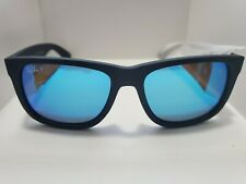 BRAND NEW Ray-Ban RB4165 Justin 622/55 Polarized Black Frame Blue Mirror Lenses