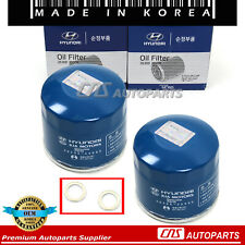 Oil Filter Washers 2pcs GENUINE For 86-17 Accent Elantra Santa Fe Sonata Optima