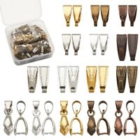 1 Box 3 Styles Brass Snap on Bails and Ice Pick Pinch Bails DIY Jewelry Findings