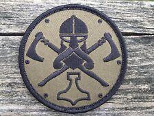 Viking Norsemen Axe Thor's Hammer Mjolnir  tactical morale  hook  patch