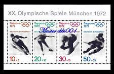 BRD Mi.Nr. 684 - 687 Block 6 / XX. Olympische Spiele München 1972 Postfrisch