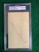 STEVE GROMEK PSA Autographed GOV'T POSTCARD 1952 CLEVELAND INDIANS #83841845