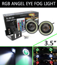 "3.5"" Multi-Color RGB DRL Fog Bulb w/ COB LED White Angel Eye Halo Rings For BMW"