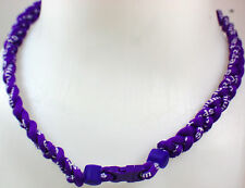 "NEW 20"" Custom Clasp Braided Sports Twisted All Purple Tornado Necklace"