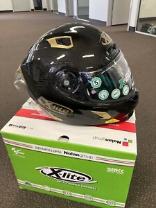 X-LITE X803RS ULTRA CARBON 'GOLDEN EDITION' SIZE XL - *SLIGHT COSMETIC BLEMISH*
