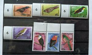 Suriname Stamps MNH 1977 Birds C58, C61-62, C64, C66, C67, C70, C60a