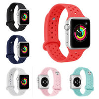 Apple Watch Series 1 2 3 4 Sport Silicone Band iwatch Strap 38mm 40mm 42mm 44mm