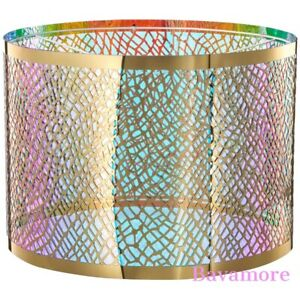 "IKEA KARISMATISK Lamp shade, net pattern gold 17 """