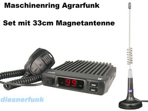 Team LCmobile Agrarfunk Betriebsfunnk Maschinenring VHF mit 33cm Magnet Antenne