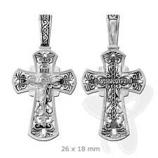 STERLING SILBER KREUZ 925 Orthodoxe Anhänger russisch 4611 крест серебрянный