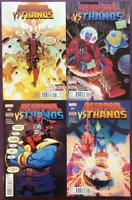 Deadpool Vs Thanos #1 to #4 complete. Marvel 2015. FN to NM Issues.