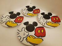 Authentic Original Disney Mickey Mouse Body Part Plates Salad Plates Set of 4.