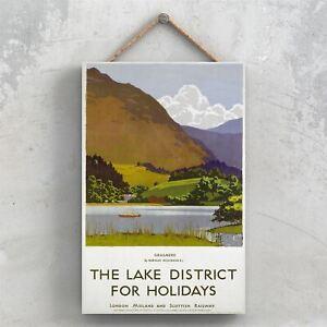 THE LAKE DISTRICT GRASMERE NORMAN WILKINSON ORIGINAL NATIONAL RAILWAY PLAQUE