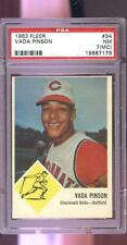 1963 Fleer #34 Vada Pinson Cincinnati Reds NM PSA 7 (MC) Graded Baseball Card