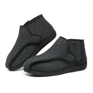 Mens Diabetic Slippers Extra Wide Opening Orthopaedic Arthritis Edema Shoes