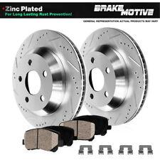 Rear Drill Slot Brake Rotors & Ceramic Pads For 2008 2009 Pontiac G8 V6