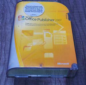 Microsoft Office Publisher 2007 for Windows XP thru 7/10 retail box