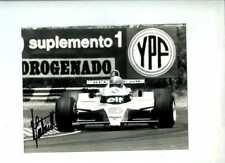 Jean-Pierre Jabouille Renault RE20 Argentine GP 1980 Signed Press Photograph