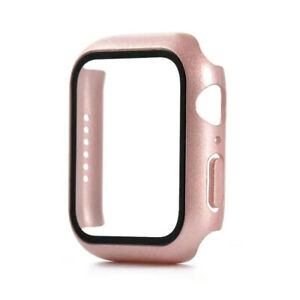 PC Hard Case Tempered Glass Screen Protector For Apple Watch iWatch 44mm