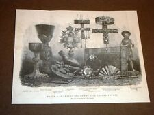 Monza nel 1875 Tesoro del Duomo e la corona ferrea