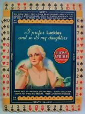 New listing Lucky Strike Cigarettes Card Game Advertising Card 1930s Vintage Tobacco