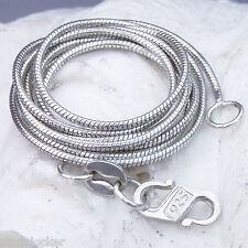SK42 Kette 42cm SILBER 925 Halskette snake silver necklace 42cm Länge SK42